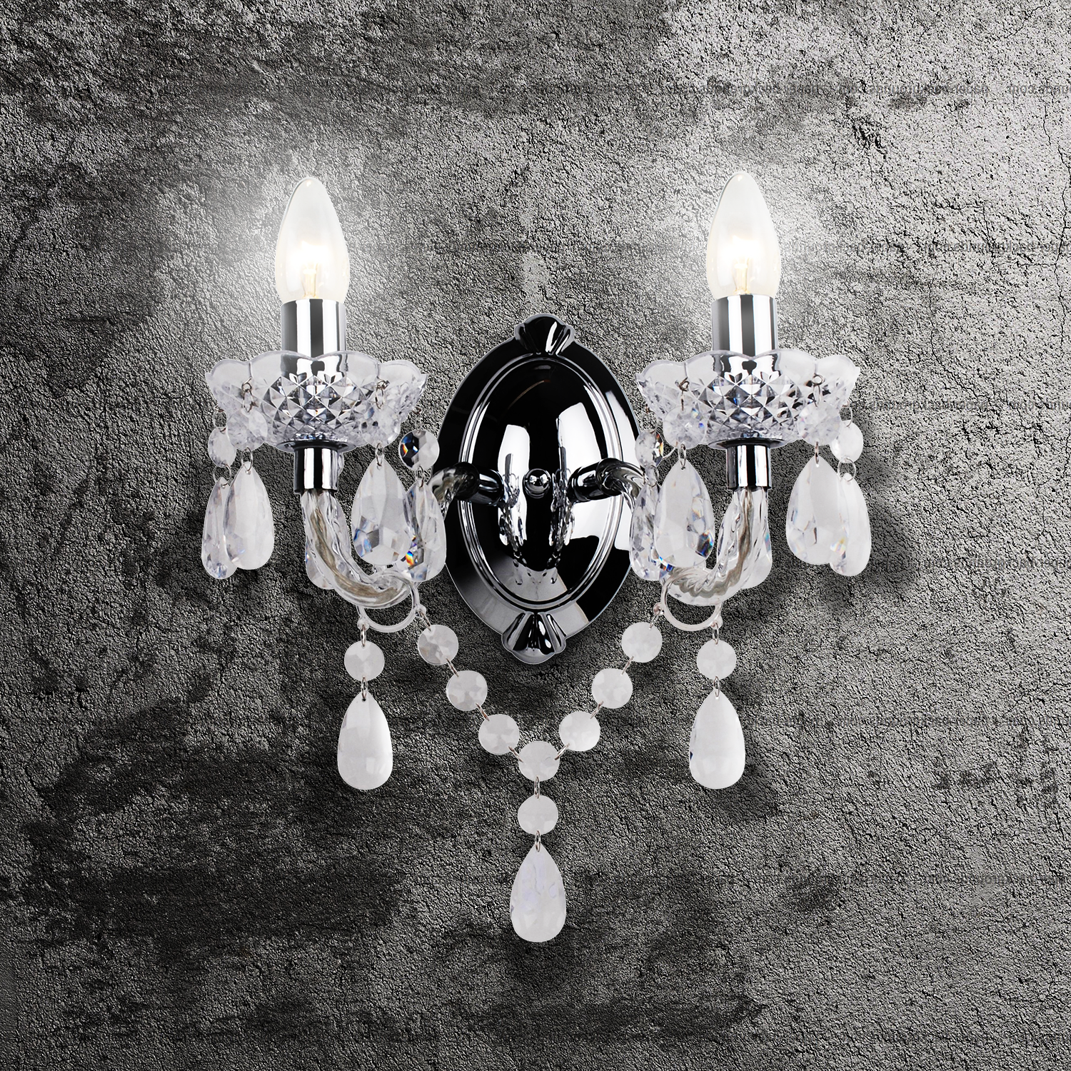 thumbnail 30 - Marie Therese 2, 3 & 5 Ceiling Light Acrylic Chandelier & Wall Clear Black