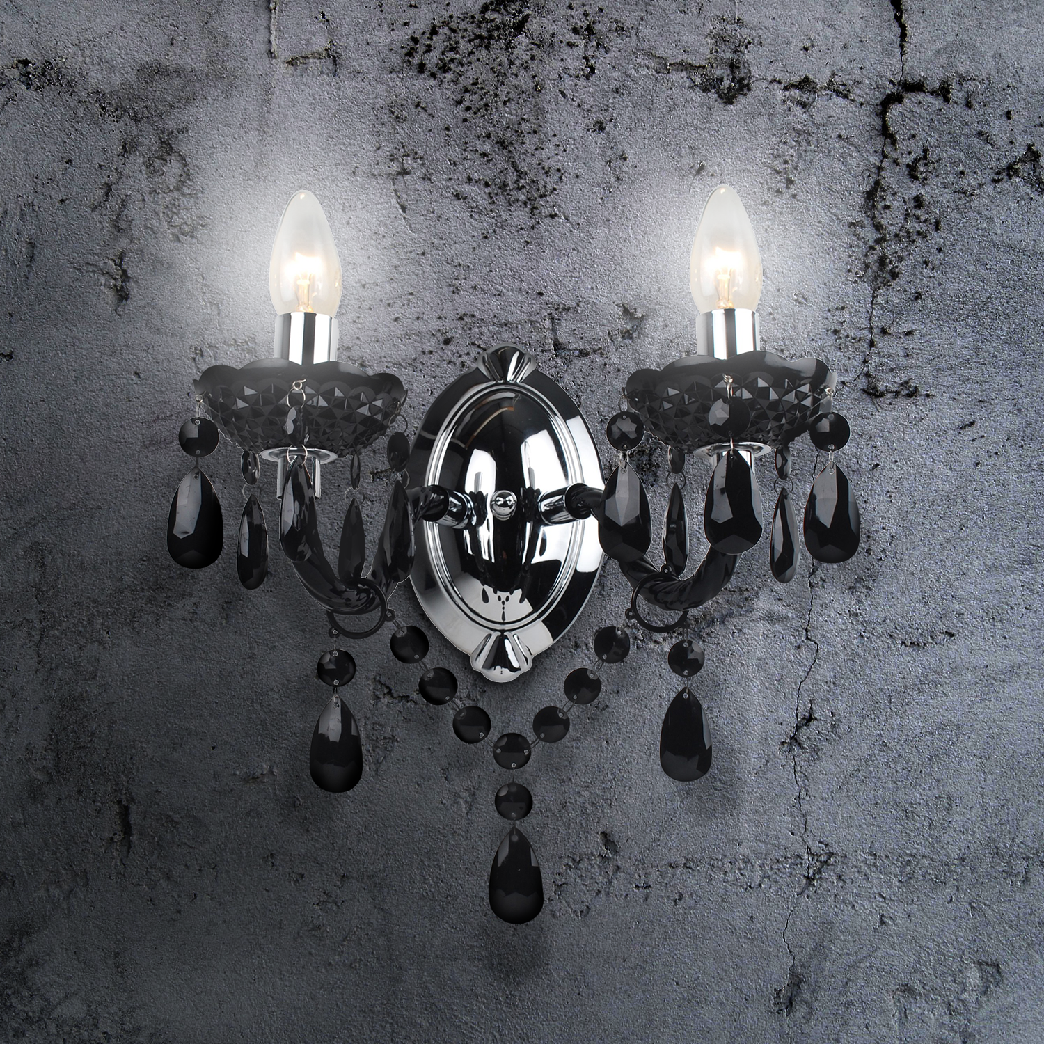 thumbnail 27 - Marie Therese 2, 3 & 5 Ceiling Light Acrylic Chandelier & Wall Clear Black
