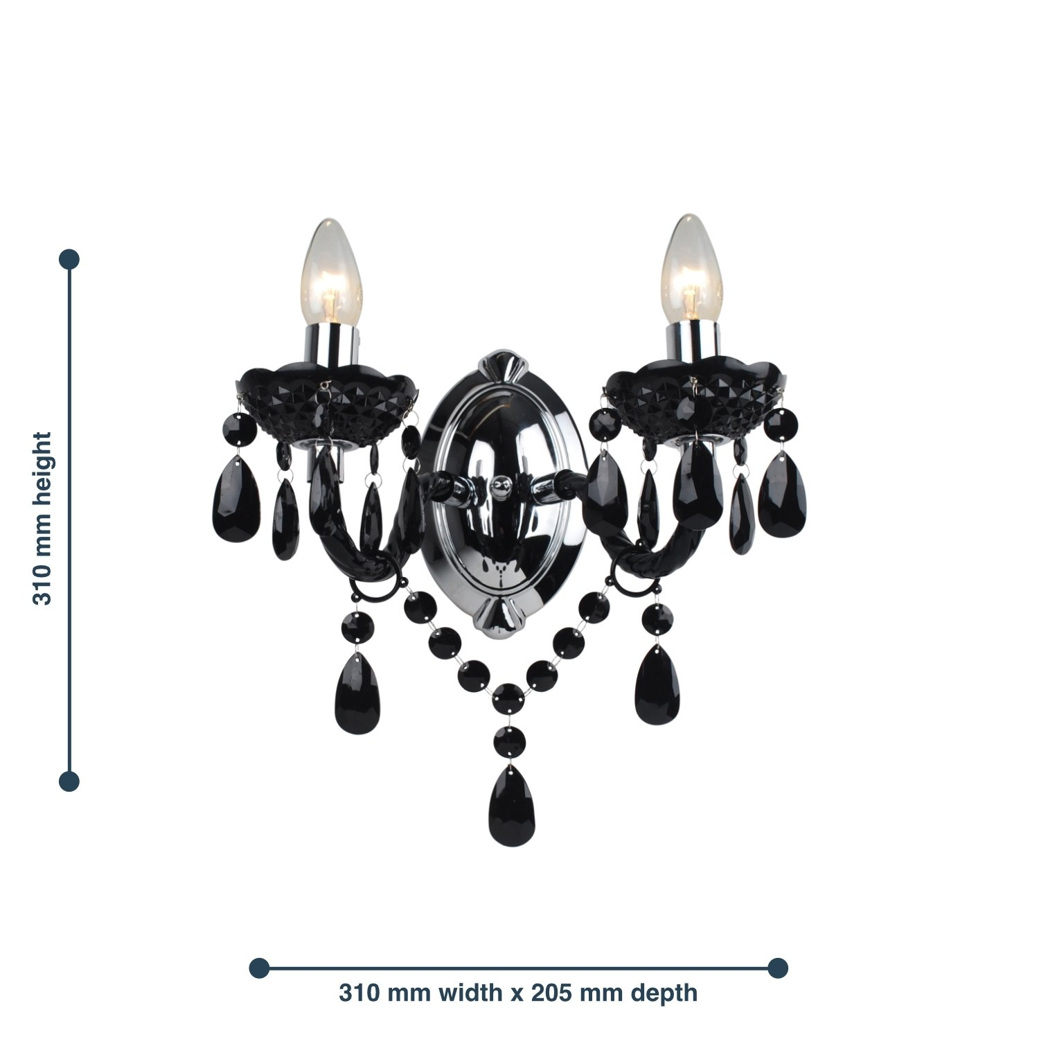 thumbnail 28 - Marie Therese 2, 3 & 5 Ceiling Light Acrylic Chandelier & Wall Clear Black