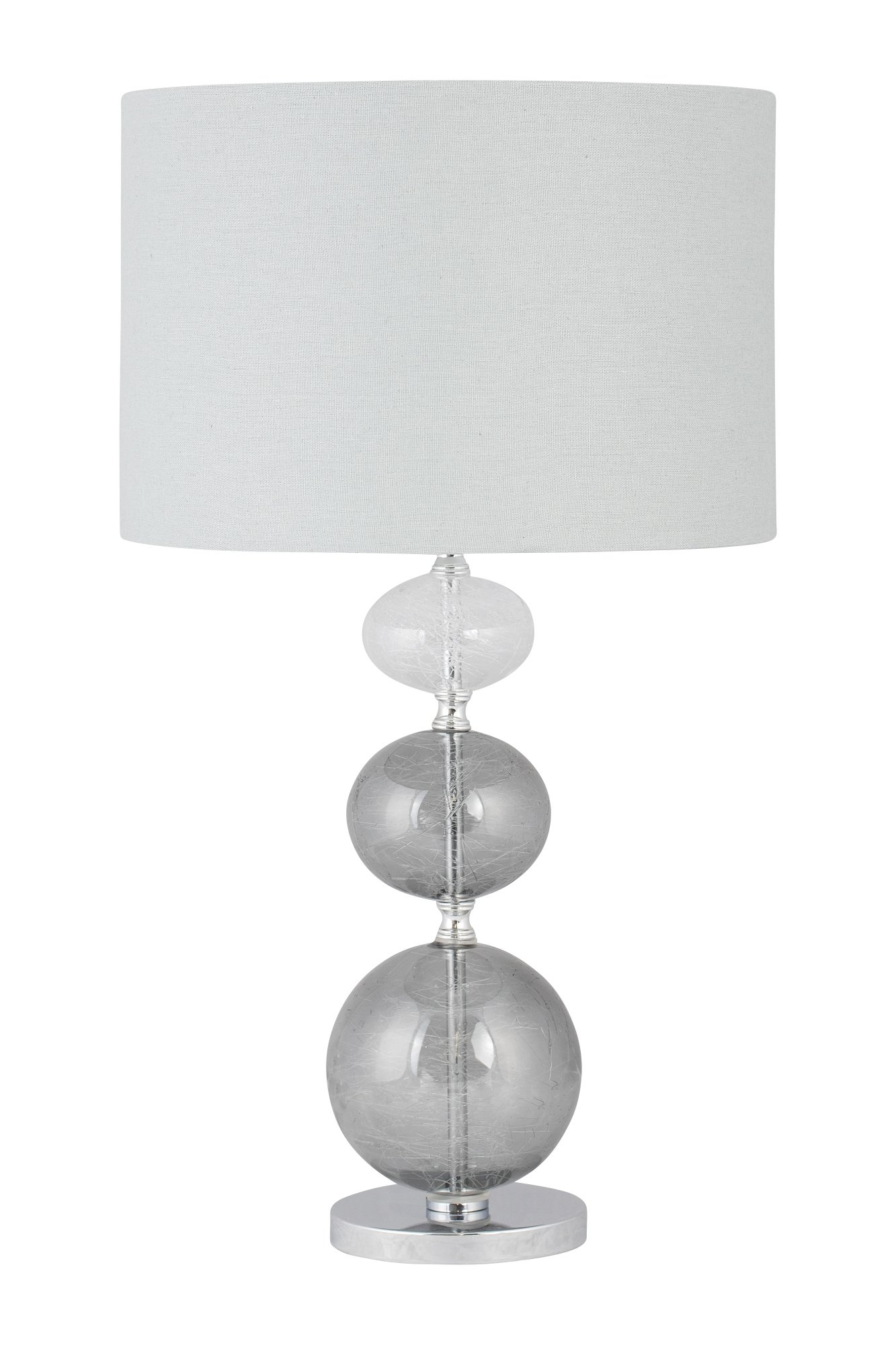 Light Grey Bedside Table: Modern Three Ball Ombre Glass 53cm Table Lamp Bedside