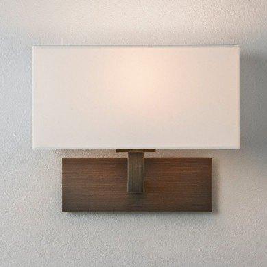 Astro Lighting - Park Lane 1080044 (8213) - Bronze Wall Light with White Shade