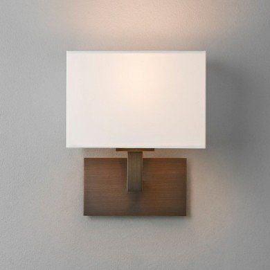 Astro Lighting - Connaught 1099004 - Bronze Wall Light with White Shade