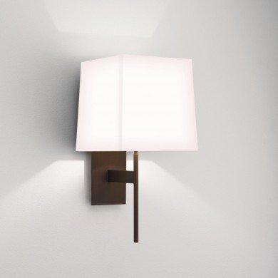 Astro Lighting - San Marino Solo 1076007 (8226) & 5010001 (4028) - Bronze Wall Light with White Shade
