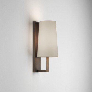 Astro Lighting - Riva 350 1214010 (8229) & 5018004 (4080) - IP44 Bronze Wall Light with White Shade