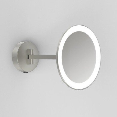 Astro Lighting - Mascali Round LED 1373006 (8324) - IP44 Matt Nickel Magnifying Mirror