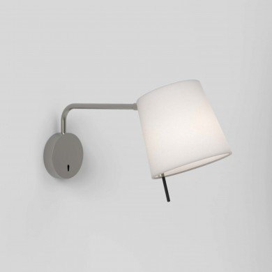 Astro Lighting - Mitsu Swing Arm 1394001 (8404) & 5018034 (4217) - Matt Nickel Wall Light with Putty Shade