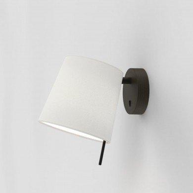 Astro Lighting - Mitsu Wall 1394004 (8407) & 5018031 (4214) - Bronze Wall Light with White Shade
