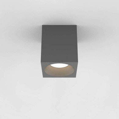 Astro Lighting - Kos Square 140 LED 1326021 (8515) - IP65 Textured Grey Surface Mounted Downlight