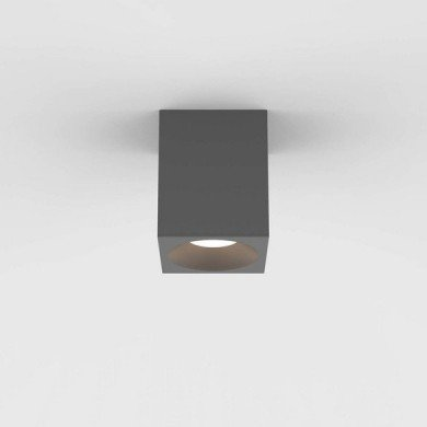 Astro Lighting - Kos Square 100 LED 1326027 (8521) - IP65 Textured Grey Surface Mounted Downlight