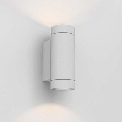 Astro Lighting - Dartmouth Twin GU10 1372012 (8539) - IP54 Textured White Wall Light
