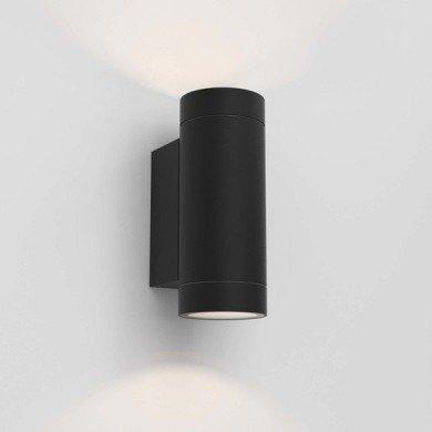 Astro Lighting - Dartmouth Twin GU10 1372014 (8541) - IP54 Textured Black Wall Light