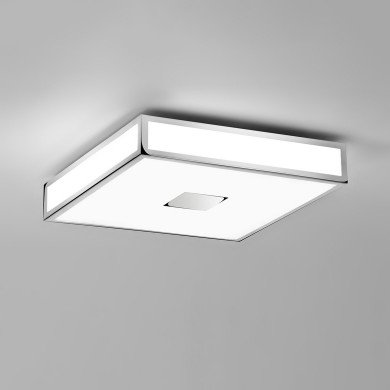 Astro Lighting - Mashiko 400 Square LED Emergency Basic 1121075 - IP44 Polished Chrome Ceiling Light