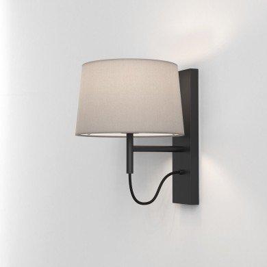 Astro Lighting - Telegraph Wall 1404010 (8584) - Matt Black Wall Light Excluding Shade