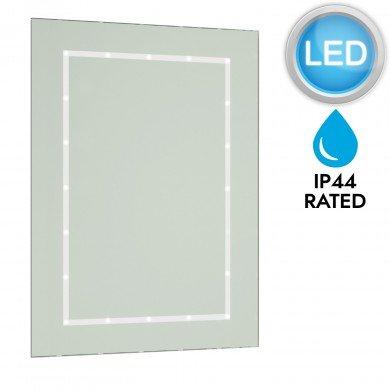 Battery Operated LED Illuminated Bathroom 600mm Rectangular Mirror