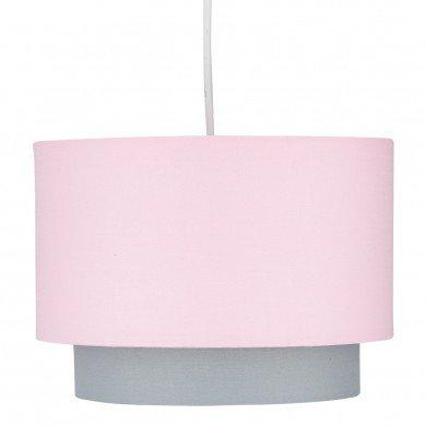 Pink & Grey 2 Tier Light Shade