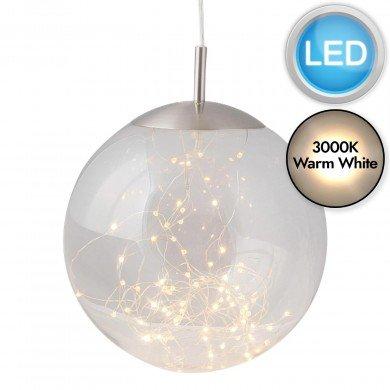 Nero - Clear Glass LED Pendant