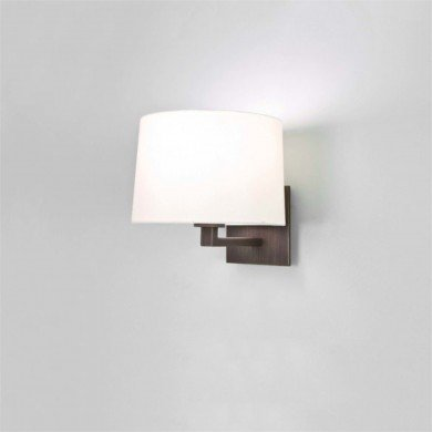 Astro Lighting - Azumi Classic 1142044 & 5006001 - Bronze Wall Light with White Shade