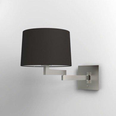 Astro Lighting - Momo Wall 1162003 (751) & 5006002 (4021) - Matt Nickel Wall Light with Black Shade Included