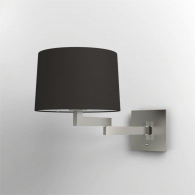 Astro Lighting - Momo Wall 1162003 (751) & 5006002 (4021) - Matt Nickel Wall Light with Black Shade Included