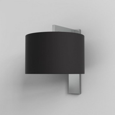 Astro Lighting - Ravello Wall 1222012 (7078) & 5016008 (4094) - Polished Chrome Wall Light with Black Shade Included