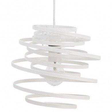 White Metal Swirl Easy Fit Light Shade