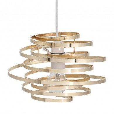 Gold Metal Swirl Easy Fit Light Shade