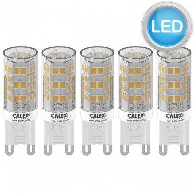 Set of 5 x G9 2.9W LED Bulbs in Warm White