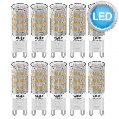 Set of 10 x G9 2.9W LED Bulbs in Warm White