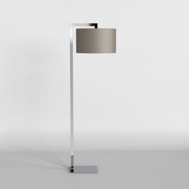 Astro Lighting - Ravello Floor 1222001 (4537) & 5016006 (4092) - Polished Chrome Floor Light with Oyster Shade Included