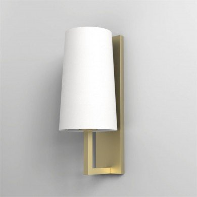 Astro Lighting - Riva 350 1214008 (7570) & 5018004 (4080) - IP44 Matt Gold Wall Light with White Shade