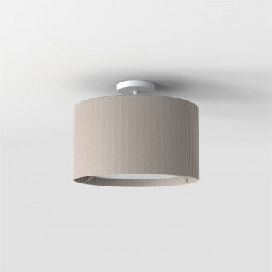 Astro Lighting - Semi Flush Unit 1362004 (7463) & 5016015 (4164) - Textured White Ceiling Light with Putty Shade