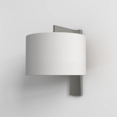 Astro Lighting - Ravello Wall 1222013 (7079) & 5016007 (4093) - Matt Nickel Wall Light with White Shade Included