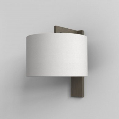 Astro Lighting - Ravello Wall 1222040 & 5016007 - Bronze Wall Light with White Shade Included