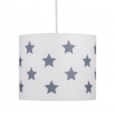 White with Grey Stars 25cm Light Shade