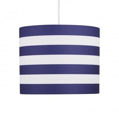 Navy Stripes 25cm Light Shade