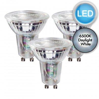 3 x 5.5W LED GU10 Dimmable Light Bulbs - Daylight White
