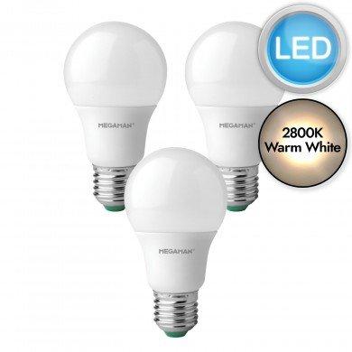 3 x 5.5W LED E27 Light Bulbs - Warm White