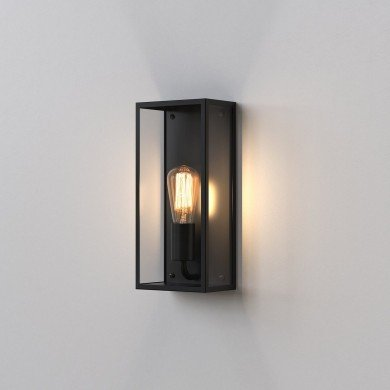 Astro Lighting - Messina 160 1183001 (866) - IP44 Textured Black Wall Light