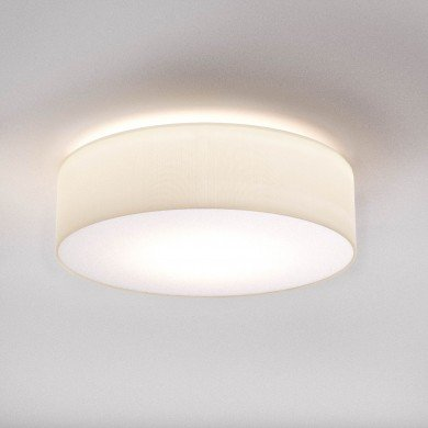 Astro Lighting - Cambria 480 1421004 - Flush Ceiling Light with White Fabric Shade