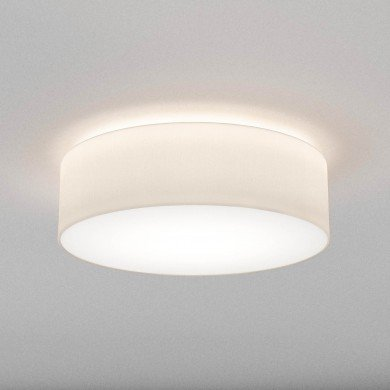 Astro Lighting - Cambria 580 1421007 - Flush Ceiling Light with White Fabric Shade