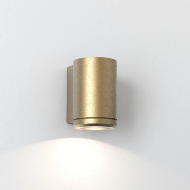 Astro Lighting - Jura Single 1375001 (7806) - IP44 Coastal Brass Wall Light