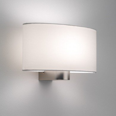 Astro Lighting - Napoli 1185001 (881) & 5014001 (4054) - Matt Nickel Wall Light with White Shade