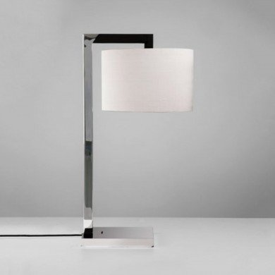Astro Lighting - Ravello Table 1222007 (4554) & 5016007 (4093) - Polished Chrome Table Lamp with White Shade