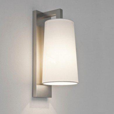 Astro Lighting - Lago 280 1297002 (7059) & 5018001 (4076) - IP44 Matt Nickel Wall Light with White Shade