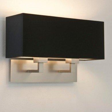 Astro Lighting - Park Lane Twin 1080020 (7063) & 5001015 (4109) - Matt Nickel Wall Light with Black Shade