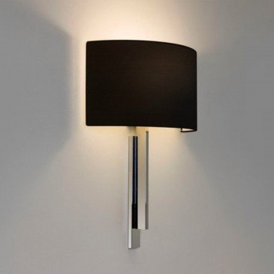 Astro Lighting - Tate 1334002 (7254) & 5026002 (4136) - Polished Chrome Wall Light with Black Shade