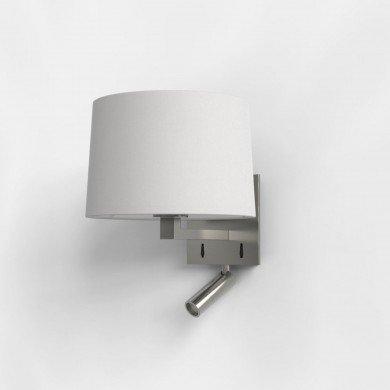 Astro Lighting - Azumi Reader LED 1142034 (7465) & 5006001 (4020) - Matt Nickel Reading Light with White Shade