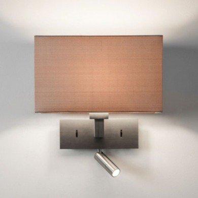 Astro Lighting - Park Lane Reader LED 1080030 (7468) & 5001007 (4035) - Matt Nickel Reading Light with Oyster Shade