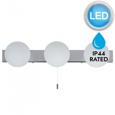 Hollywood Style Over Mirror LED Pull Cord Wall Light