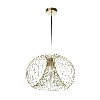 Brushed Gold Wire 42W E27 Ceiling Pendant